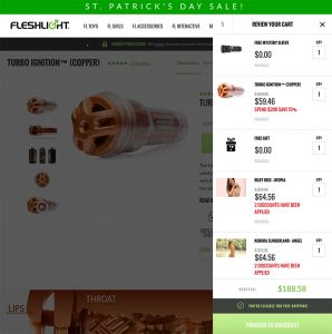 St. Patrick´s Day - Discount on Fleshlight.com